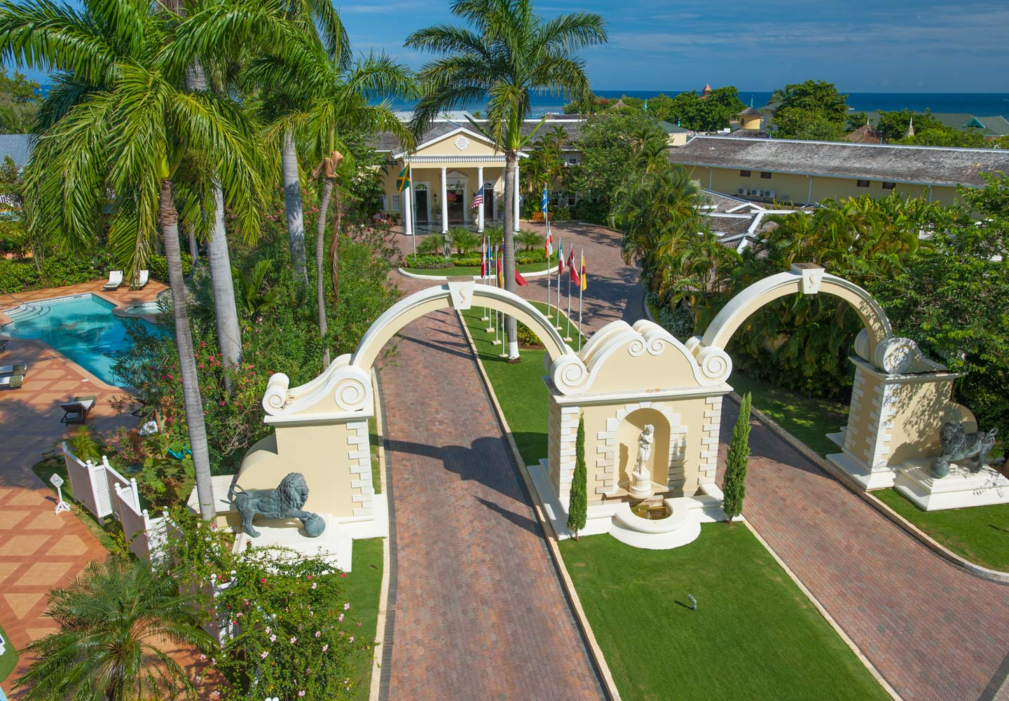 Sandals Royal Caribbean Georgian-Style Great House, Montego Bay, Jamaica. https://www.jamaica-reggae-music-vacation.com/Sandals-Royal-Caribbean.html