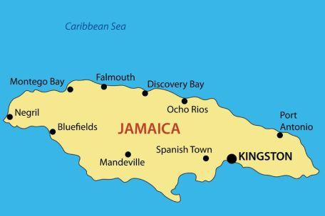 http://www.jamaica-reggae-music-vacation.com, Map of Jamaica