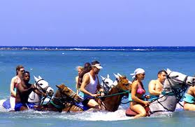 Horseback riding in Jamaica, https://www.jamaica-reggae-music-vacation.com/Runaway-Bay-Jamaica-Activities.html