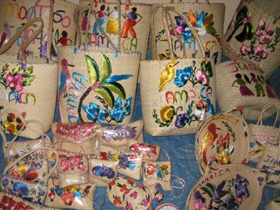 Jamaica straw baskets, Market Place, https://www.jamaica-reggae-music-vacation.com/Negril-Attractions.html