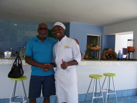 Juice and Organic counter on the beach at Couples Tower Isle, Ocho Rios Jamaic