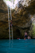 Blue Hole Mineral Spring in Jamaica, http://www.jamaica-reggae-music-vacation.com/Negril-Attractions.html