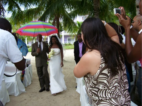 Beach Jamaica Wedding, Riu, Negril, Jamaica