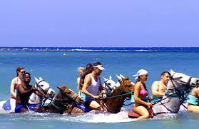 Horseback riding in Jamaica, http://www.jamaica-reggae-music-vacation.com/Runaway-Bay-Jamaica-Activities.html