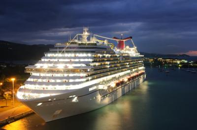 Cruise ship in Falmouth, Jamaica