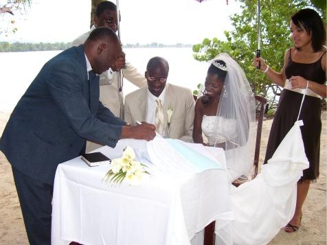 Wedding at Riu Hotel on Negril beach